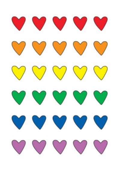 Modern Multicoloured Love Heart Anniversary Card