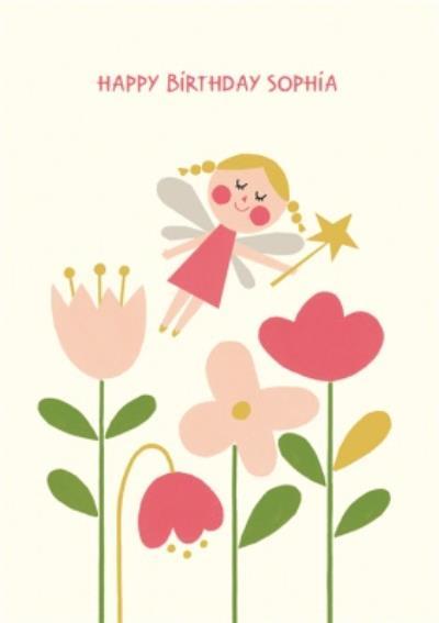 Fairy And Flowers Birthday Card