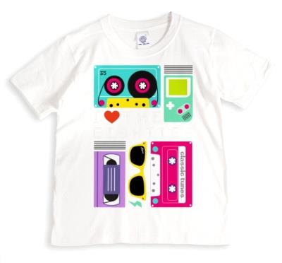 Heart Eighties Personalised T-shirt