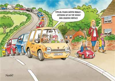 Funny Side Of Life Traffic Jam Card