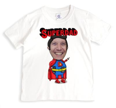 Father's Day Superdad Face Swap Photo Upload T-shirt