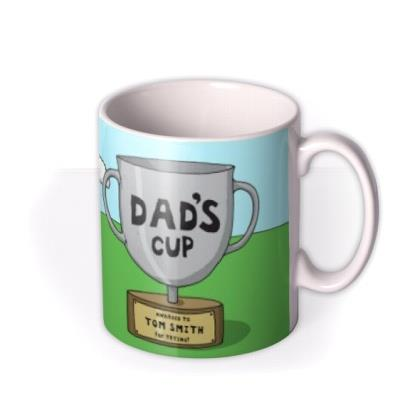 Father's Day Rugby Face Swap Photo Upload Mug