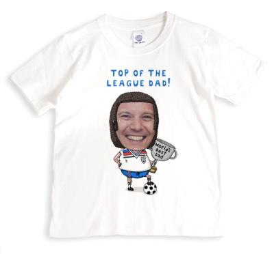 Father's Day Footballer Face Swap Photo Upload T-shirt