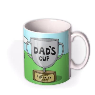 Father's Day Golf Face Swap Photo Upload Mug