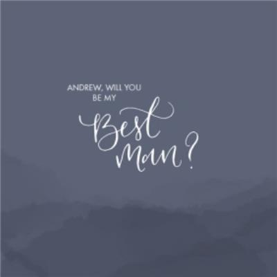 Dark Grey Hills Personalised Will You Be My Best Man Card