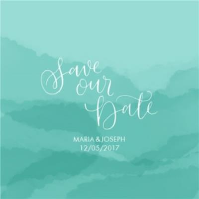 Mint Hills Personalised Save The Date Card