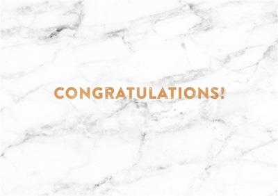 Marble Landscape Personalised Congratulations Card