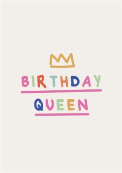 Minimal Birthday Queen Card