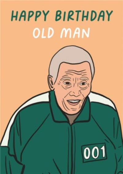 Old Man Funny Topical TV Show Themed Birthday Card