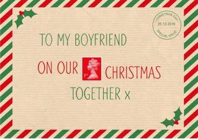 To Boyfriend First Christmas Together Post Personalised Card