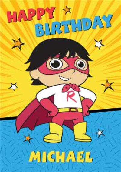 Ryan's World Bright Superhero Birthday Card