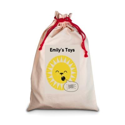 Personalised Lion Toy Sack