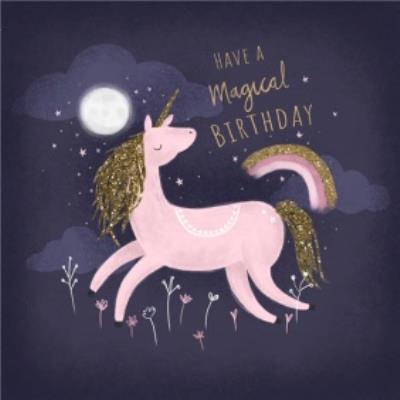 Cute Have A Magiical Pink Unicorn Birthday Card