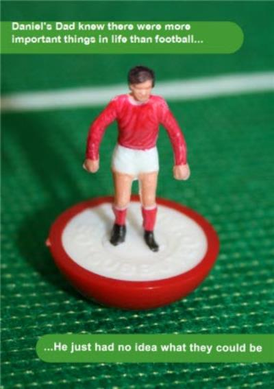 Subbuteo Funny Football Father's Day Card