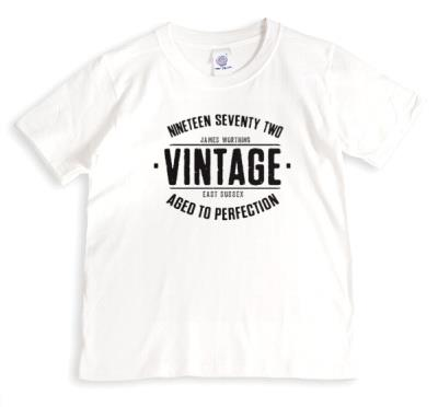 Vintage and Aged To Perfection Personalised T-Shirt