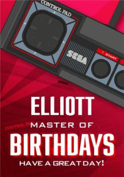 Sega Consoles Retro Master System Birthday Card