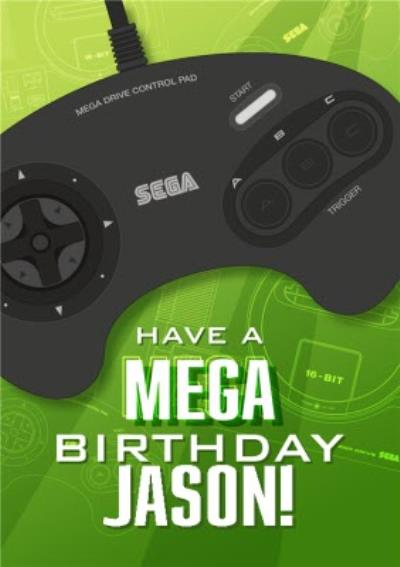 Sega Consoles Retro Mega Drive Birthday Card