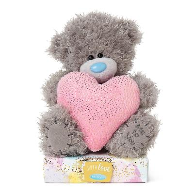 Me To You Pink & Gold Love Heart Tatty Teddy 16cm