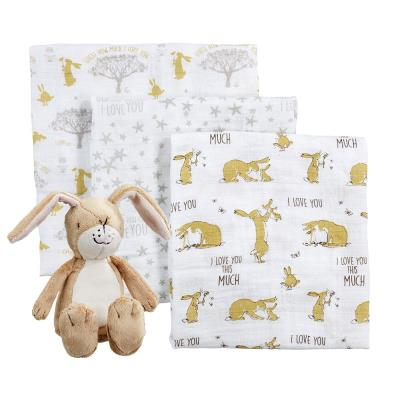 Guess How Much I Love You Toy & Muslin Gift set