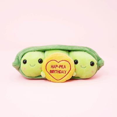 Love Hearts Hap-Pea Birthday Soft Toy 10cm