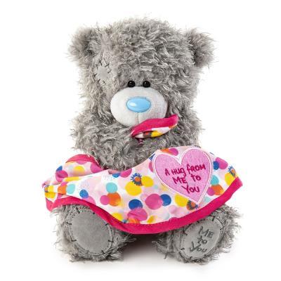 Tatty Teddy Love Heart Blanket Bear 18cm