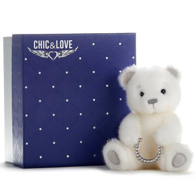 Swarovski Crystal Small Baby Bear with Horseshoe 16cm