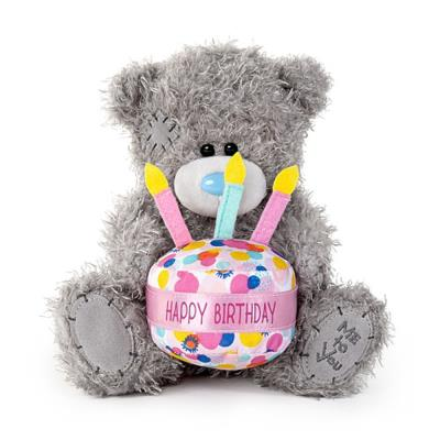 Tatty Teddy Wearing a 'Happy Birthday' Cake Hat