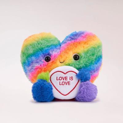 Rainbow Heart Soft Toy 18cm