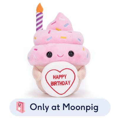 Happy Birthday Cupcake Soft Toy 22cm