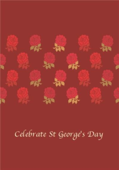 Roses Personalised St George's Day Card