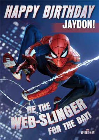 Marvel Spiderman Gamerverse Web Slinger Birthday Card