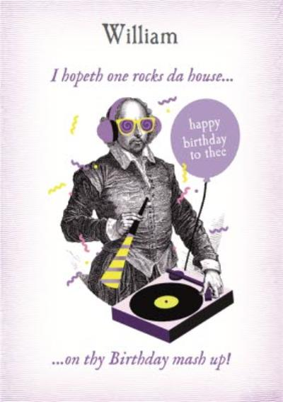 Personalised Rock The House On Your Birthday Dj Set Card