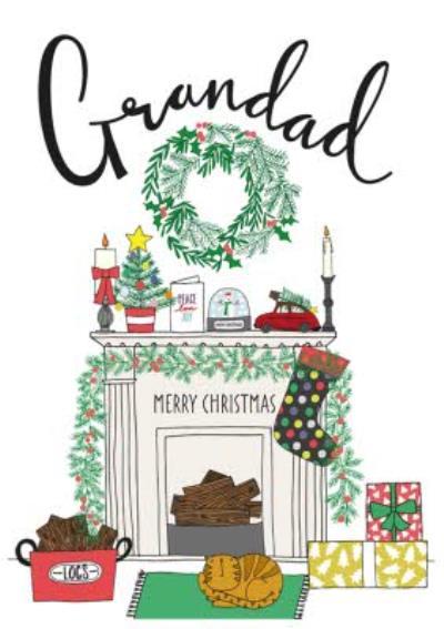 Shelfie Christmas Card For Grandad