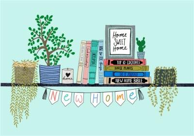 Plant Shelf New Home Personalised Card