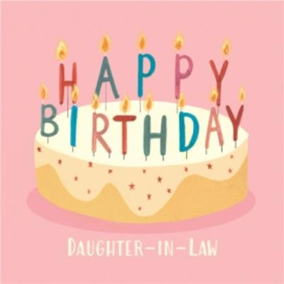 Happy Birthday cake card for Daughter-in-Law