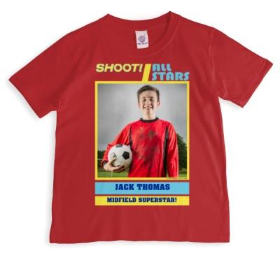 Shoot! Superstar Sticker Photo Upload T-shirt