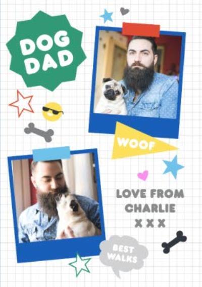 Dog Dag Fathers Day Photo Card