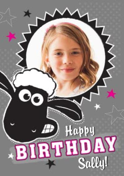 Shaun The Sheep Photo Upload Birthday Card