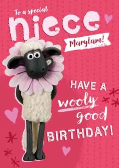 Shaun The Sheep special Niece Wooly good Birthday Card