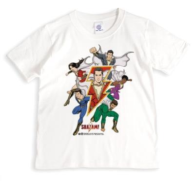 Shazam! Superheros Lightning Bolt T-Shirt