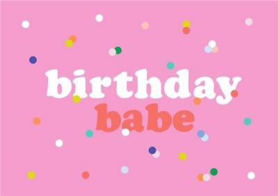 Shake It Up Birthday Babe Card