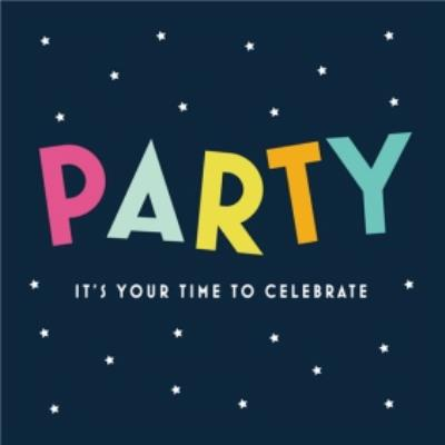 Shake It Up Your Time To Celebrate Card