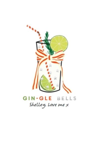 Shake It Up Gin-Gle Bells Personalised Card