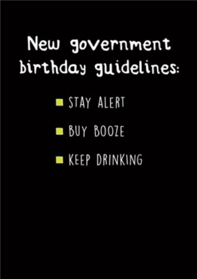 New Government Birthday Guidelines Birhday Card