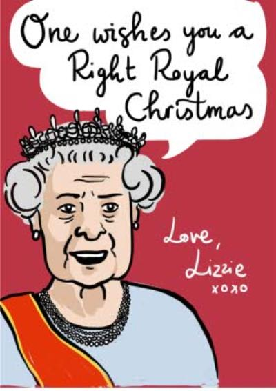 One Wishes A Royal Christmas Personalised Christmas Card