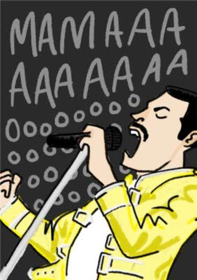 Mamaaaaaaaoooo Cool Queen Freddie Mercury Mother's Day Card