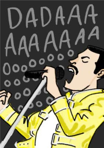 Dadaaaaaaaoooo Cool Queen Freddie Mercury Father's Day Card