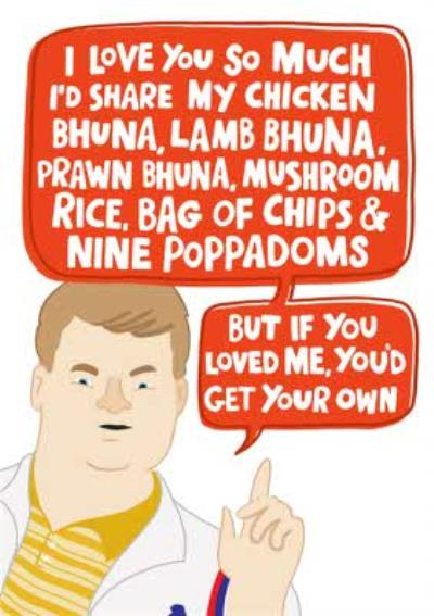 Gavin And Stacey Smithy Themed Valentines Day Card