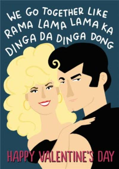 Grease Film Themed Valentines Day Card