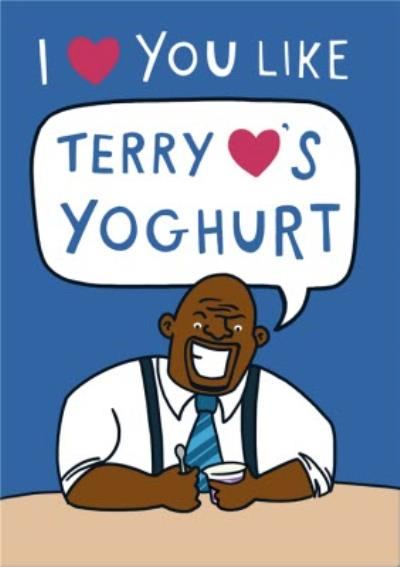 Brooklyn 99 Terry YoghurtThemed Valentines Day Card